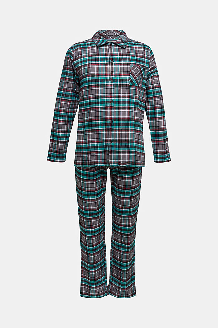 flannel pyjamas made of 100% organic cotton, ANTHRACITE, detail image number 3