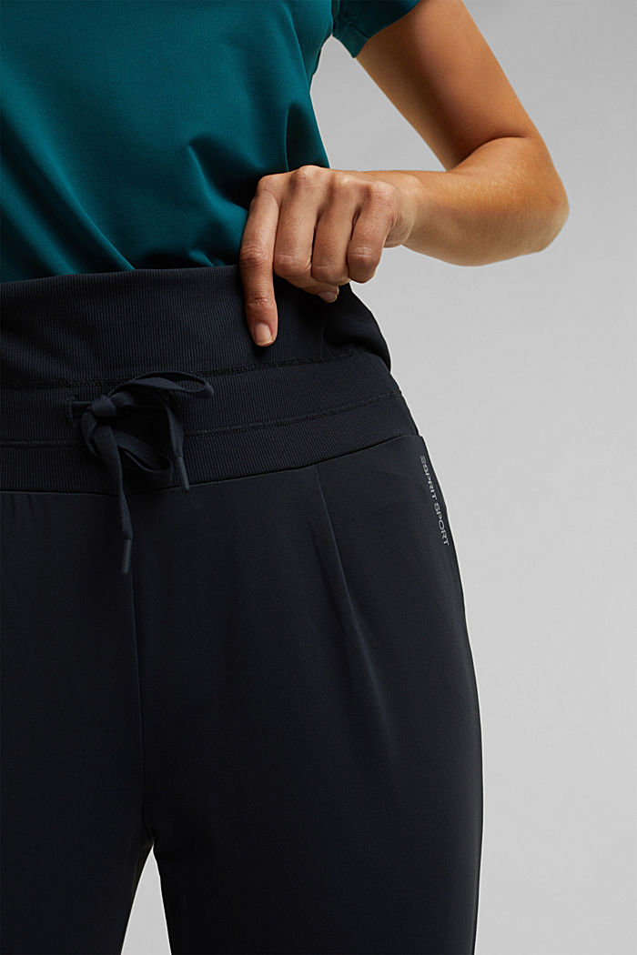 Active trousers with E-DRY, BLACK, detail image number 2