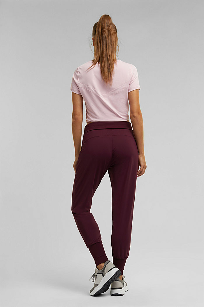 Active trousers with E-DRY, BORDEAUX RED, detail image number 3