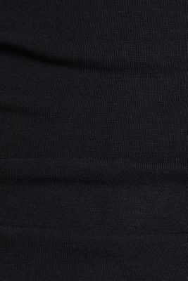 Cropped tracksuit bottoms made of organic cotton, BLACK, detail