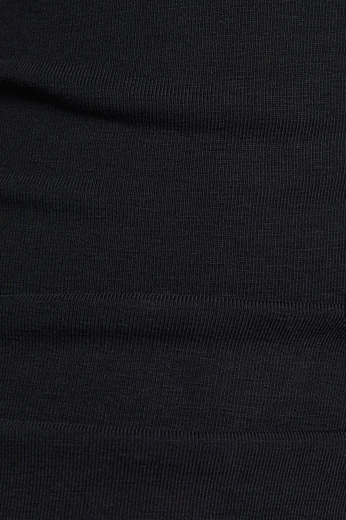 Cropped tracksuit bottoms made of organic cotton, BLACK, detail image number 4