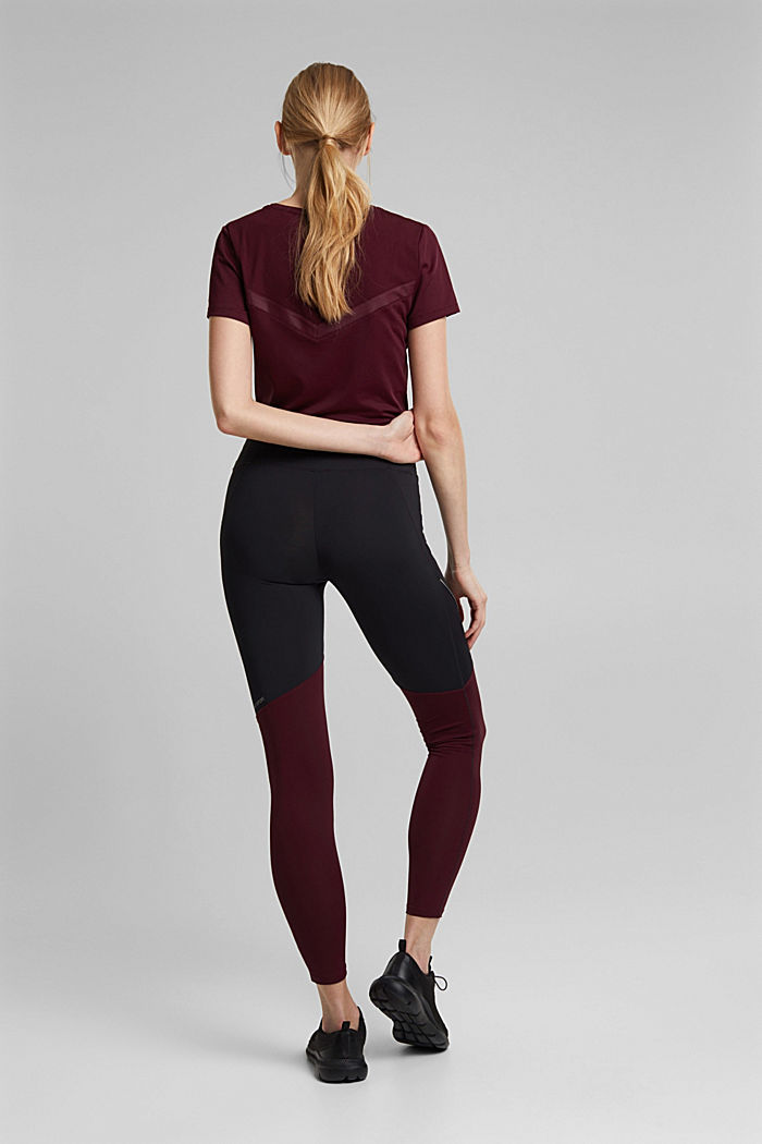 Active leggings with E-DRY, BLACK, detail image number 3