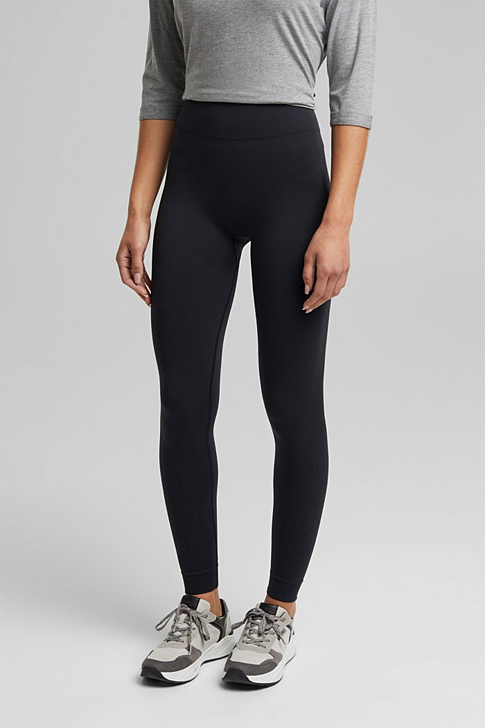 Active logo waistband leggings, E-DRY, BLACK, detail image number 0