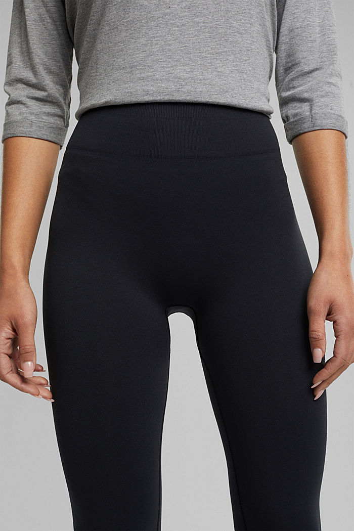 Active logo waistband leggings, E-DRY, BLACK, detail image number 2