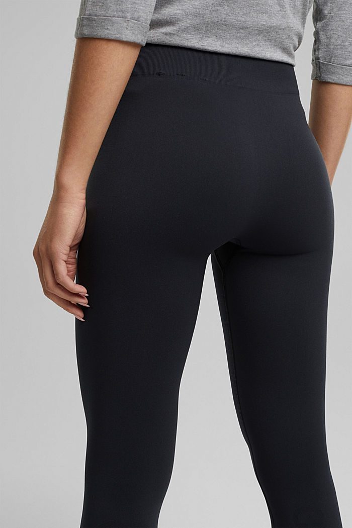Active logo waistband leggings, E-DRY, BLACK, detail image number 5