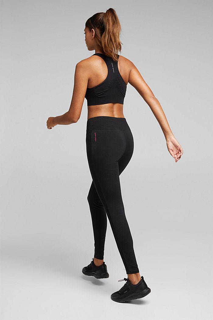 Active leggings in organic cotton, BLACK, detail image number 3
