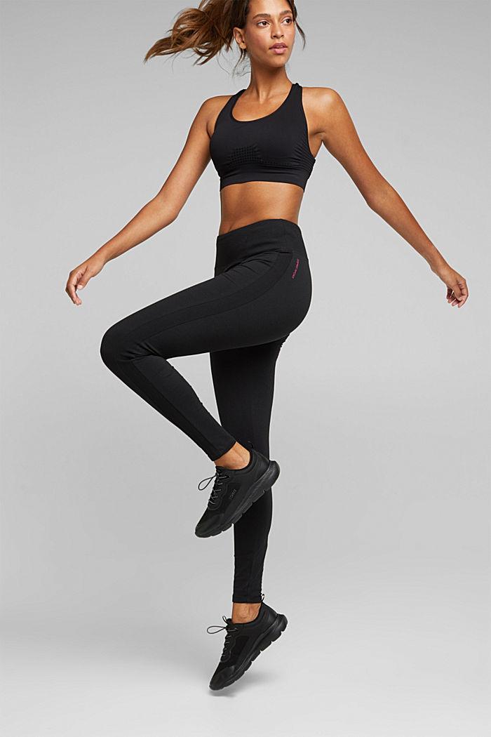 Active leggings in organic cotton, BLACK, detail image number 5