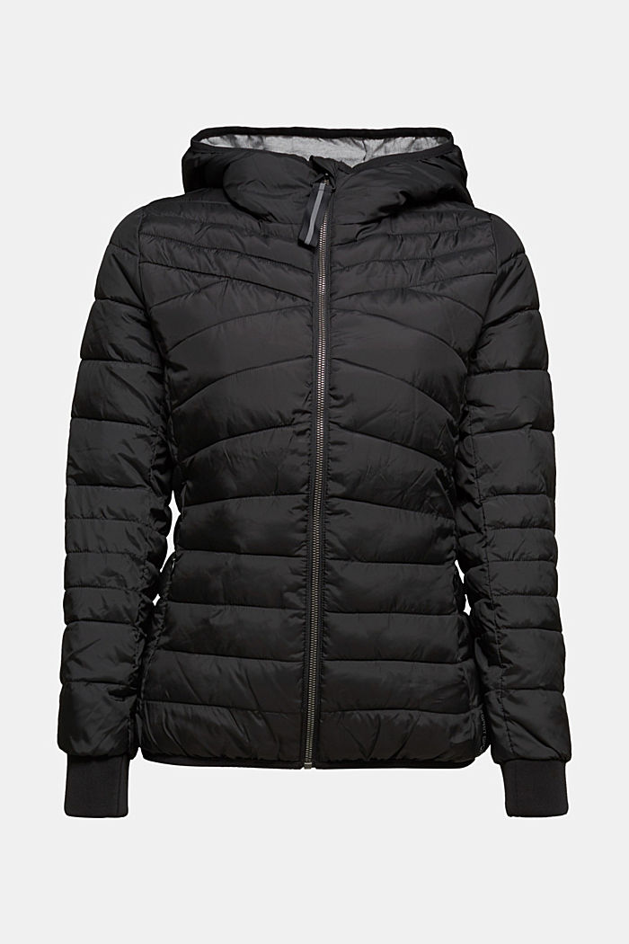 Quilted jacket with 3M™ Thinsulate™ filling, BLACK, overview