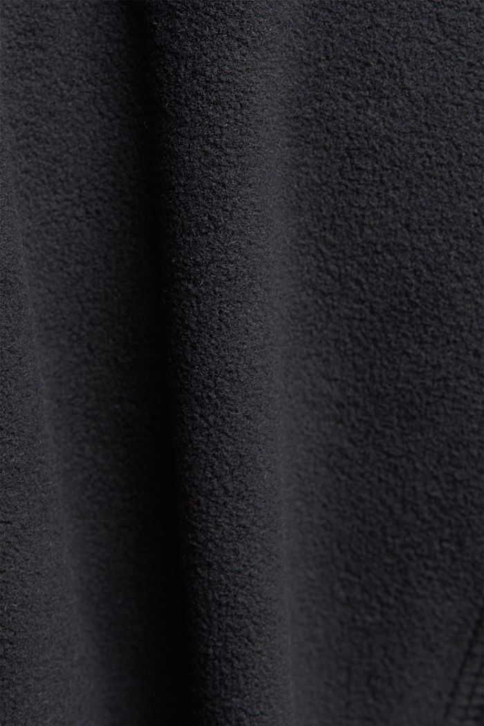 Fleece jacket with quilted details, ANTHRACITE, detail image number 4