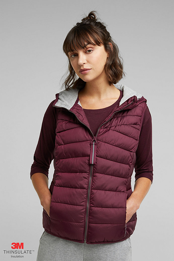 Body warmer with 3M™ Thinsulate™ filling, BORDEAUX RED, detail image number 0