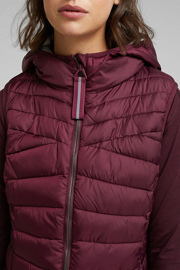Body warmer with 3M™ Thinsulate™ filling, BORDEAUX RED, detail image number 2