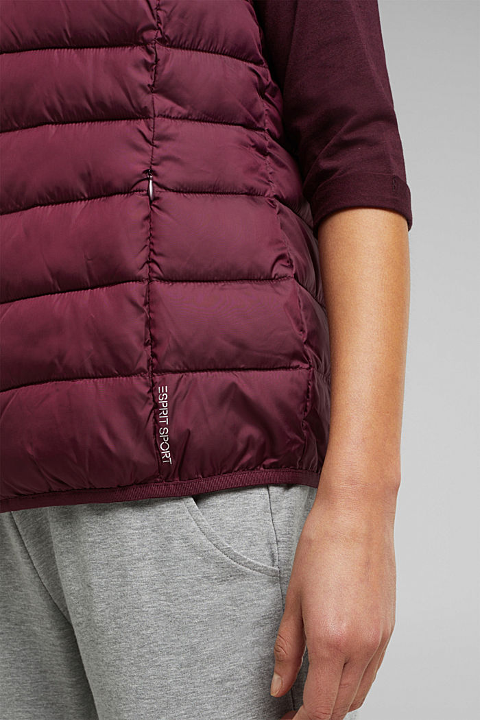 Body warmer with 3M™ Thinsulate™ filling, BORDEAUX RED, detail image number 5
