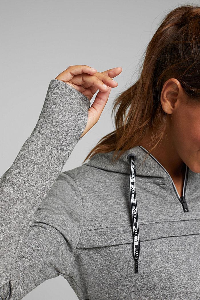 Hooded sweatshirt with organic cotton, MEDIUM GREY, detail image number 5