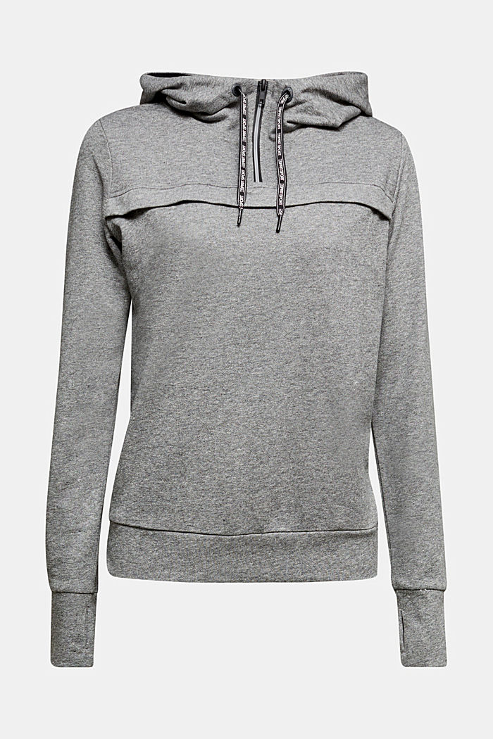 Hooded sweatshirt with organic cotton