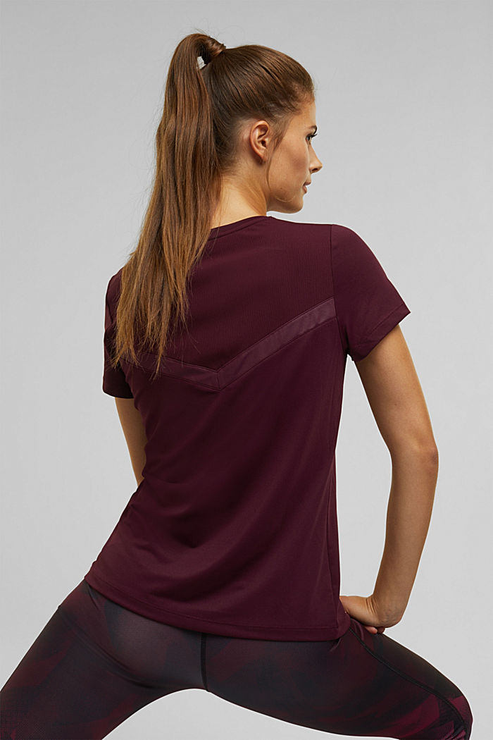 Active top with E-DRY, BORDEAUX RED, detail image number 5