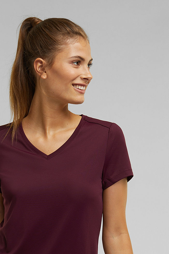 Active top with E-DRY, BORDEAUX RED, detail image number 6