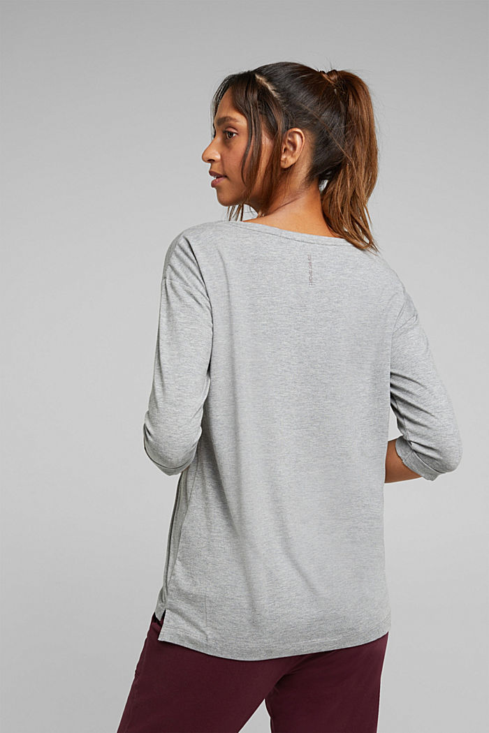 long sleeve top with organic cotton, MEDIUM GREY, detail image number 3