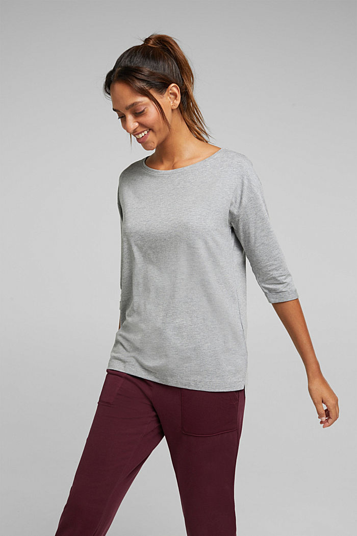 long sleeve top with organic cotton, MEDIUM GREY, detail image number 5