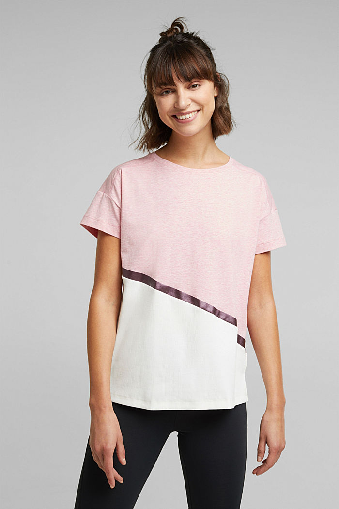 Activewear T-shirt containing organic cotton, LIGHT PINK, detail image number 0