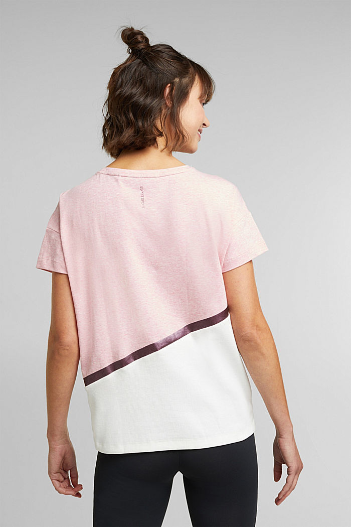 Activewear T-shirt containing organic cotton, LIGHT PINK, detail image number 3