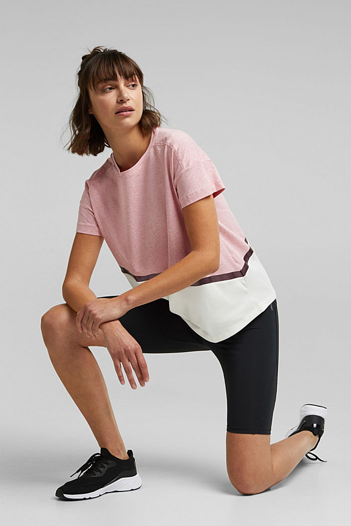 Activewear T-shirt containing organic cotton, LIGHT PINK, detail image number 1