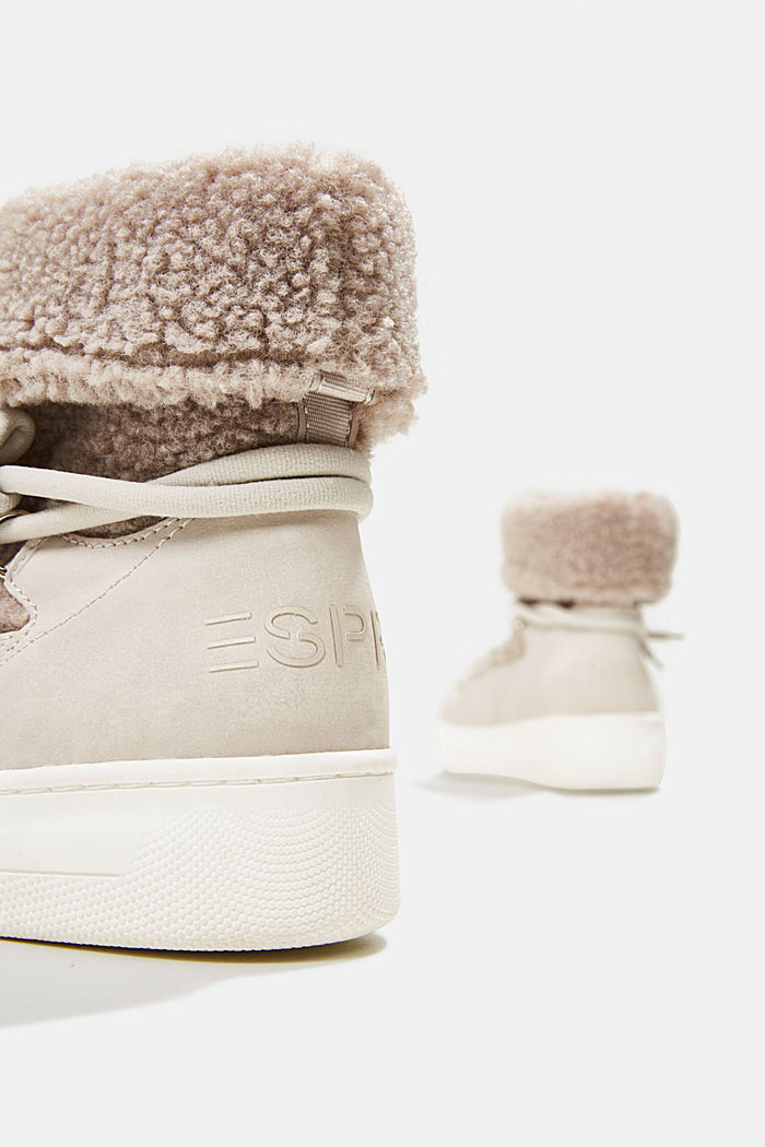 Faux sheepskin snow boots, CREAM BEIGE, detail image number 5