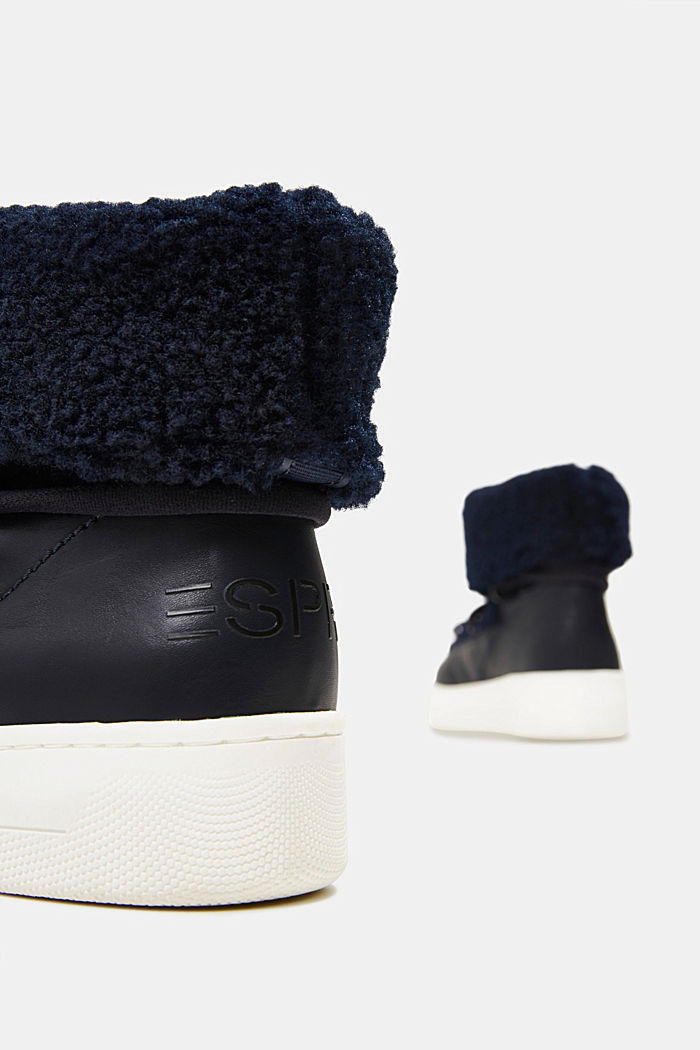 Faux sheepskin snow boots, NAVY, detail image number 5