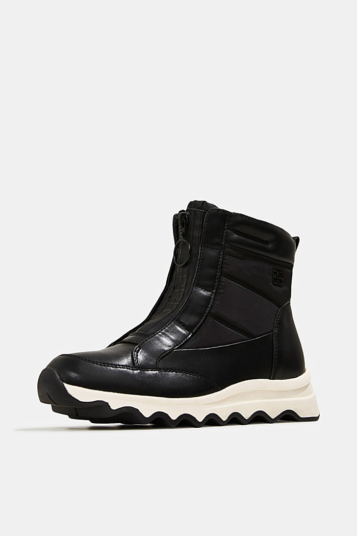 Sneakerbooties met golvende zool, BLACK, detail image number 2
