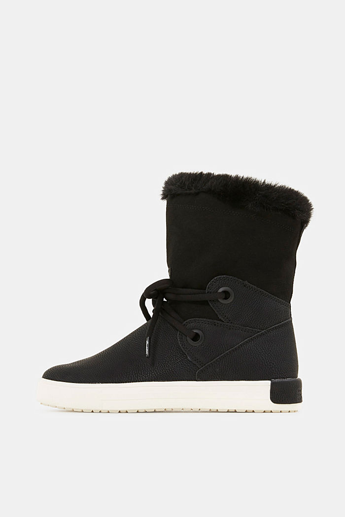 Snow-Booties in Leder-Optik, BLACK, detail image number 0