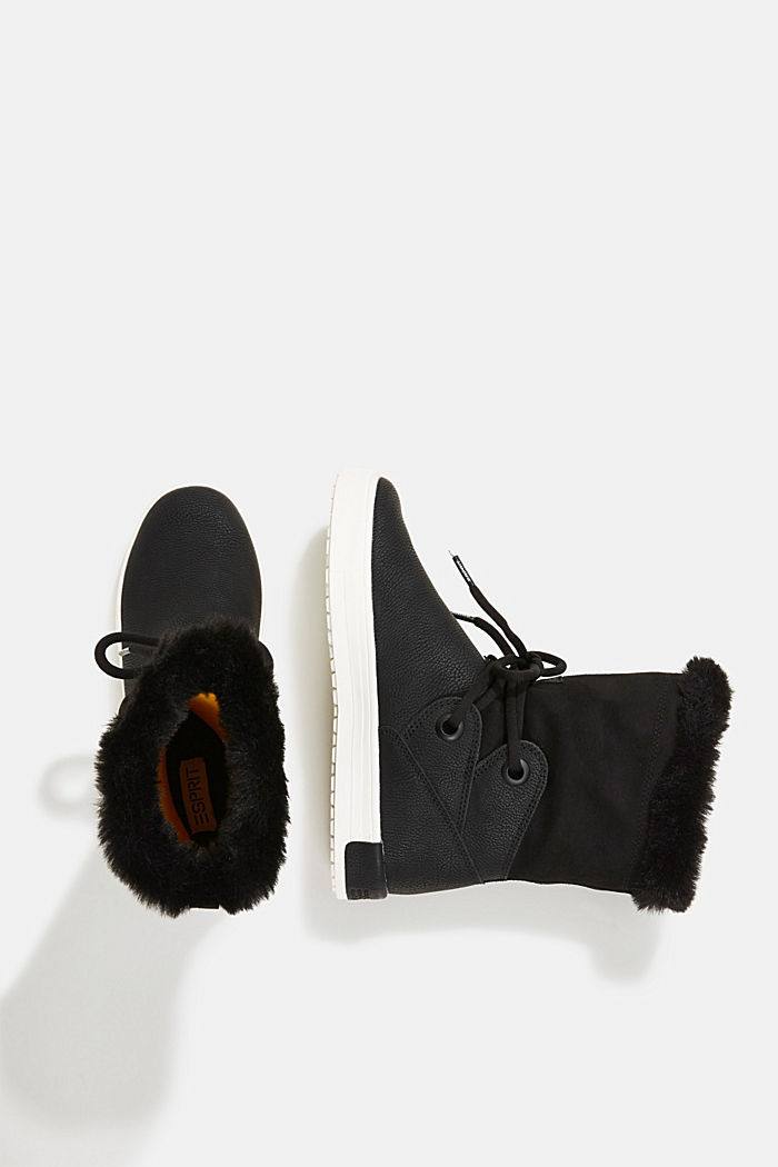 Snow ankle boots in faux leather, BLACK, detail image number 1