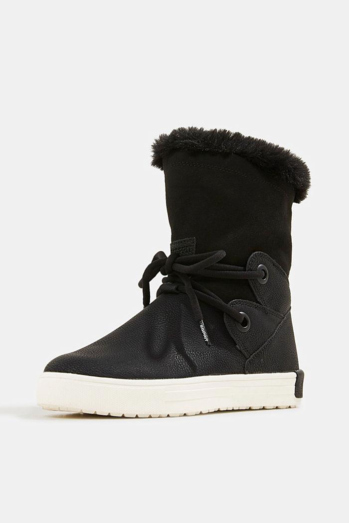 Snow-Booties in Leder-Optik, BLACK, detail image number 2