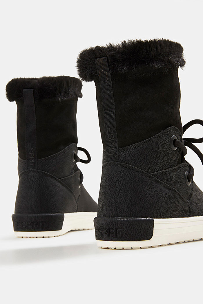 Snow ankle boots in faux leather, BLACK, detail image number 5