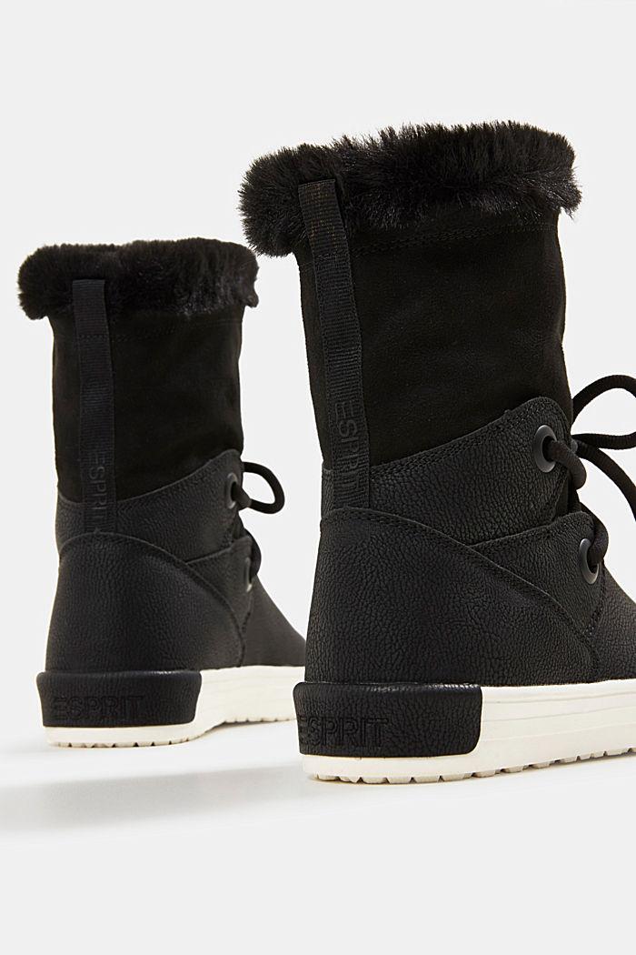 Snow-Booties in Leder-Optik, BLACK, detail image number 5