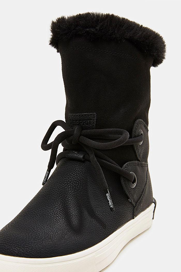 Snow-Booties in Leder-Optik, BLACK, detail image number 4