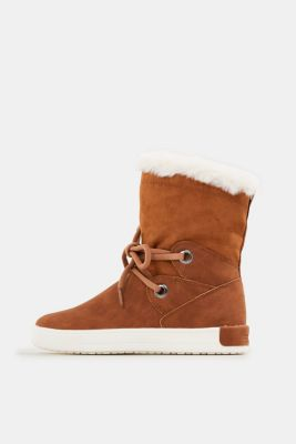 Snow ankle boots in faux leather, TOFFEE, detail