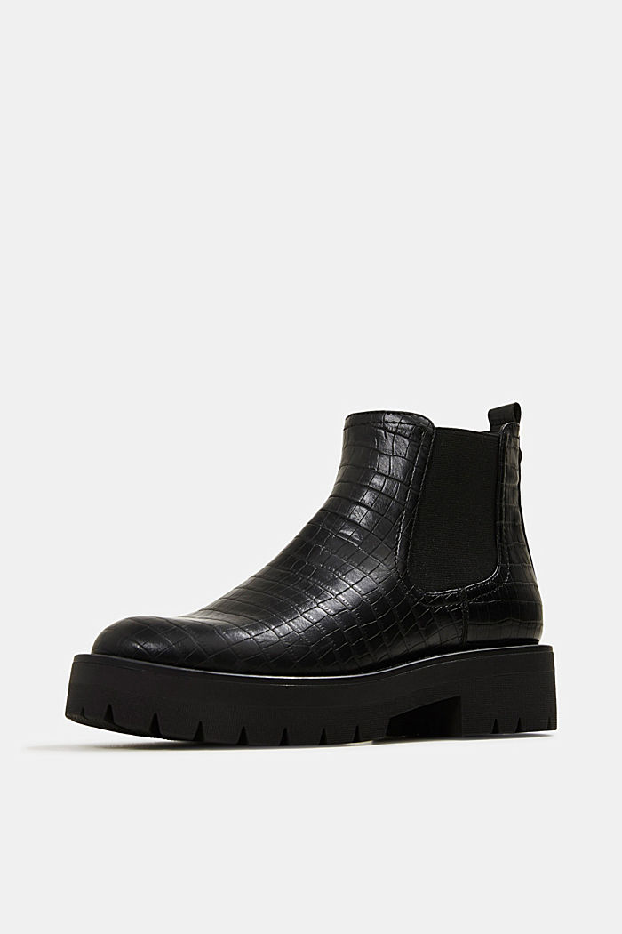 Boots in faux reptile leather, BLACK, detail image number 2
