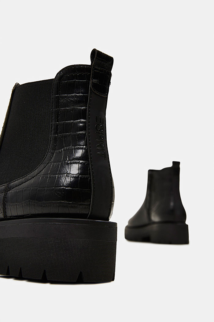 Boots in faux reptile leather, BLACK, detail image number 5