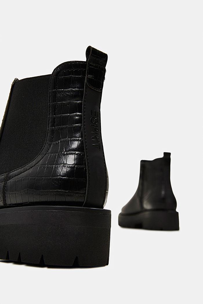 Boot in Reptilleder-Optik, BLACK, detail image number 5