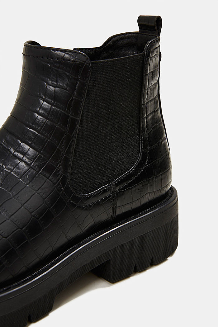 Boots in faux reptile leather, BLACK, detail image number 4
