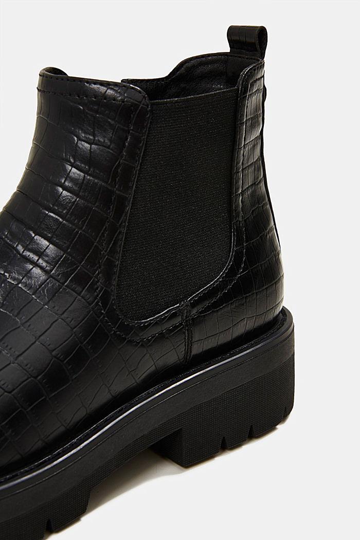 Boot in Reptilleder-Optik, BLACK, detail image number 4
