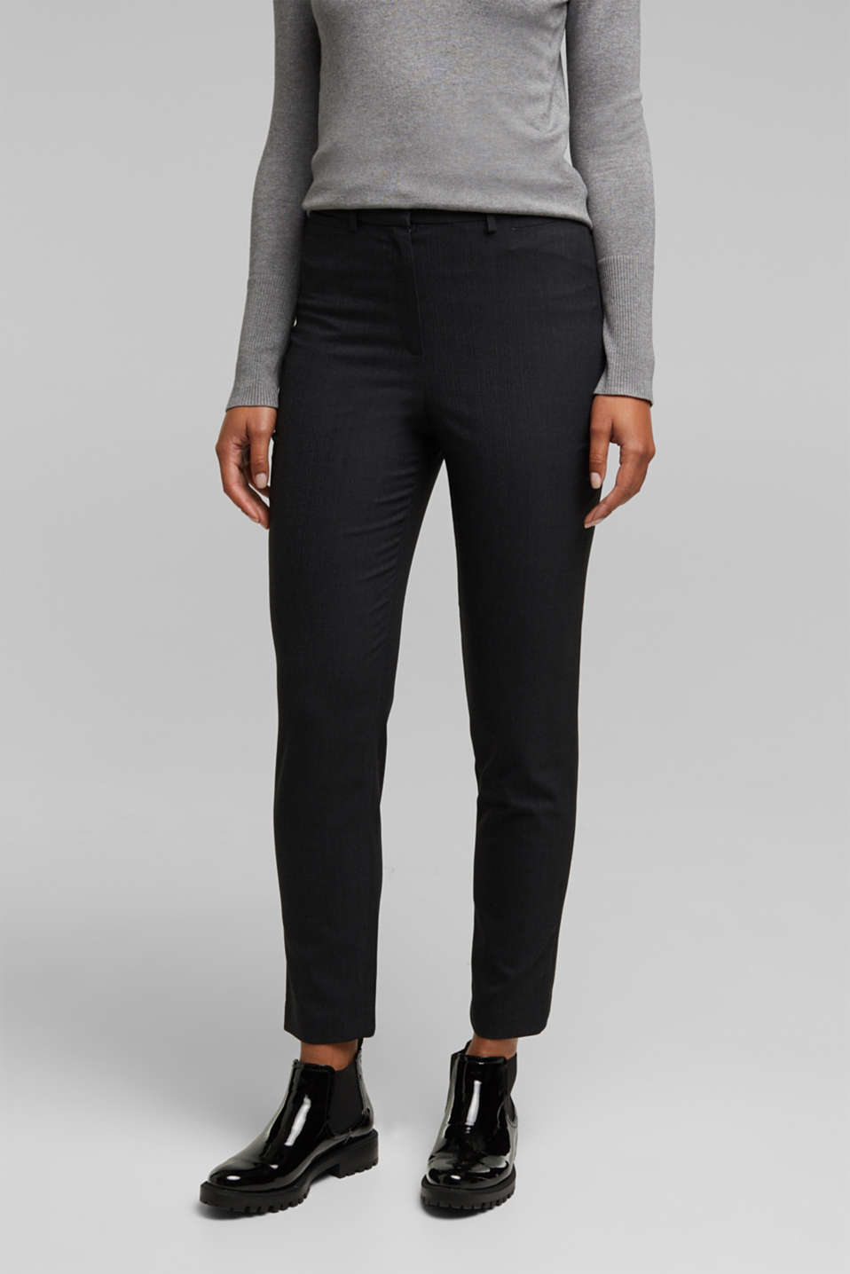 Esprit - Gerecycled: PINSTRIPE MIX + MATCH broek