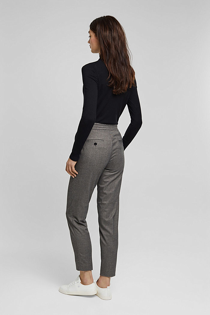 Recycled: Tracksuit bottoms with an elasticated waistband, GUNMETAL, detail image number 3