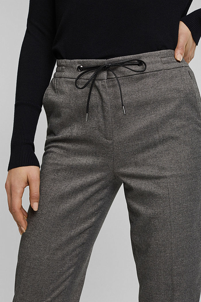 Recycled: Tracksuit bottoms with an elasticated waistband, GUNMETAL, detail image number 2