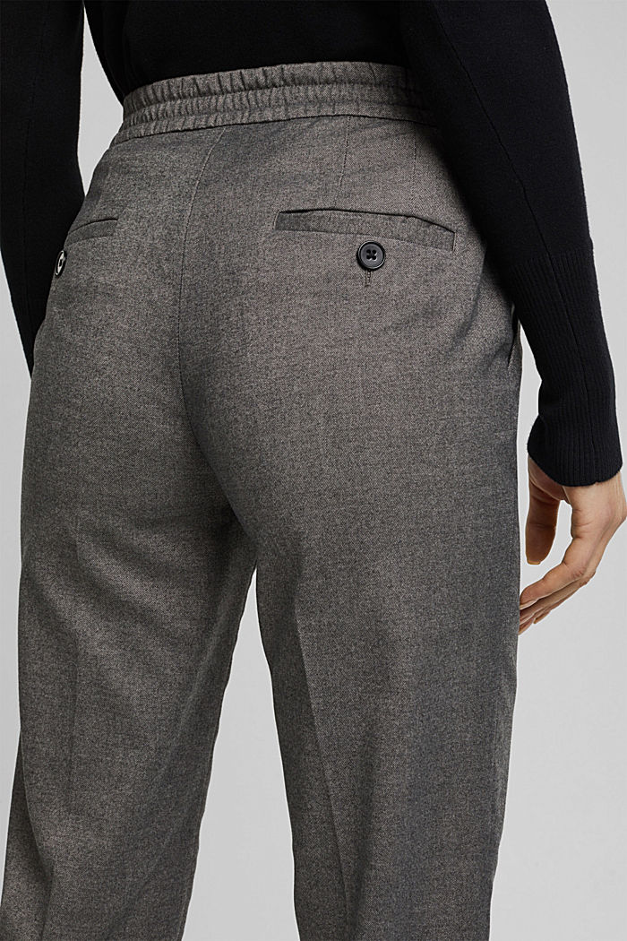 Recycled: Tracksuit bottoms with an elasticated waistband, GUNMETAL, detail image number 5