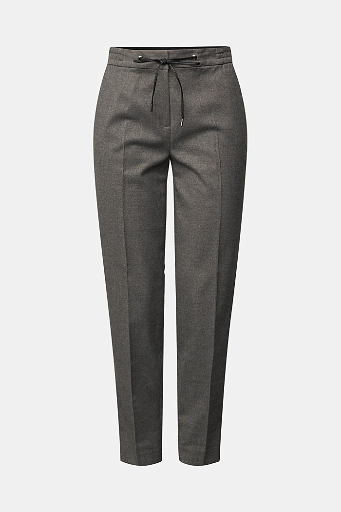 Recycled: Tracksuit bottoms with an elasticated waistband, GUNMETAL, detail image number 6