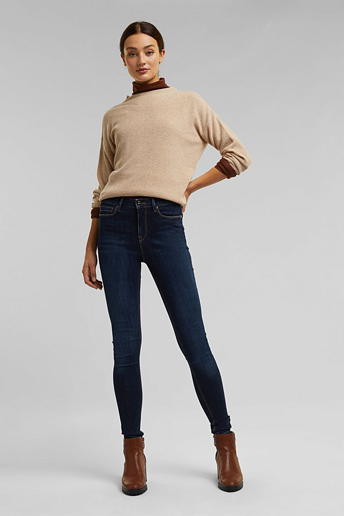 Recycled: organic cotton blend jeans