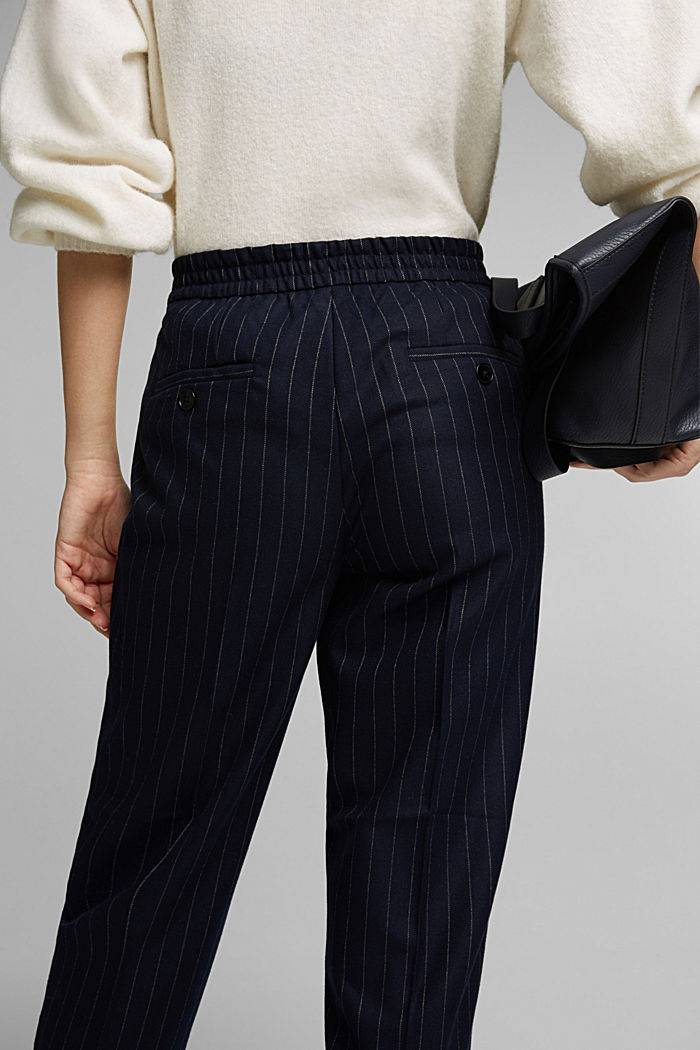 Recycled: tracksuit bottoms with an elasticated drawstring waistband, NAVY, detail image number 5