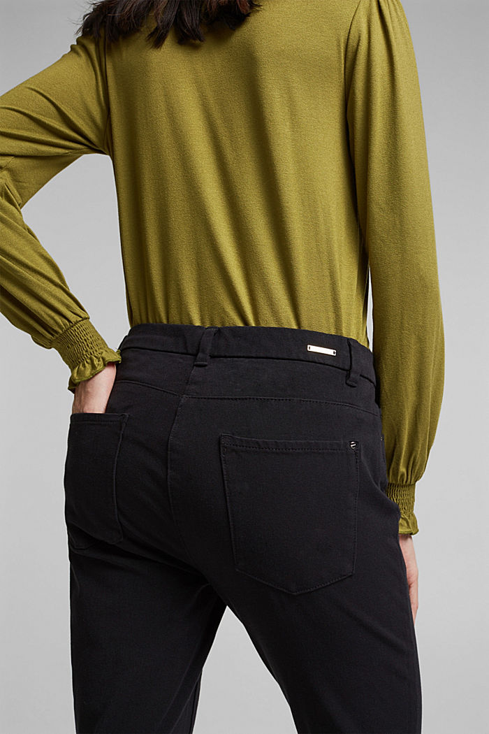 Two-way stretch trousers with organic cotton, BLACK, detail image number 5