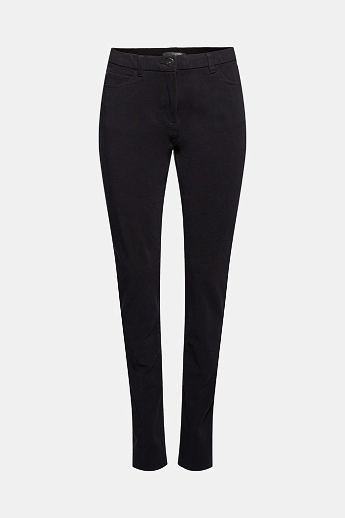 Two-way stretch trousers with organic cotton, BLACK, detail image number 6