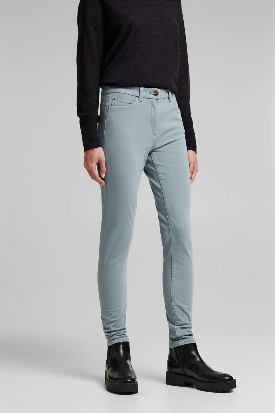 Esprit - Bi-Stretch-Pants mit Organic Cotton